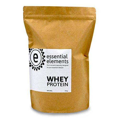 Whey Protein Powder, neutral, 750g - het alternatieve koolhydraatarme eiwitpoeder voor een gezonde voeding tussen de maaltijden door - gemaakt in Duitsland - 100% zuiver wei-eiwit (wei-eiwitconcentraat)