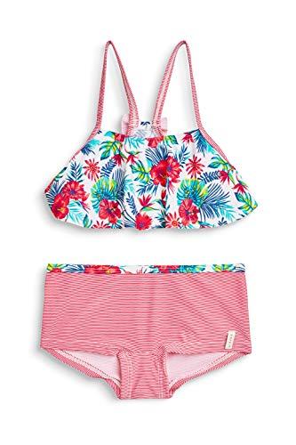 ESPRIT Mädchen Hawai Beach Mg Bustier+Hotpant Badebekleidungsset, Rosa (Pink Fuchsia 660), 116 (Herstellergröße: 116/122)