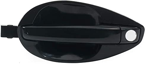 ECCPP Door Handle Exterior Outside Outer Front Driver Side for 2003-2008 Hyundai Tiburon Black