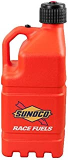 Sunoco Race Fuels 5 Gallon Racing Utility Jug with Deluxe Filler Hose Kit - Orange - Made in the USA