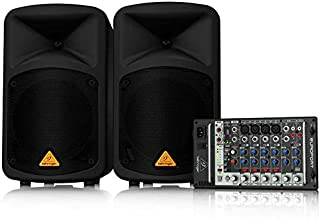 Behringer EPS500MP3 Ultra-Compact 500 Watt 8 Channel Portable PA System with MP3 Player - Black