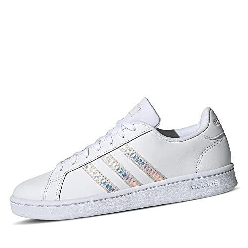 adidas Grand Court, Zapatillas de Tenis Mujer, FTWBLA/ALUMIN/ALUMIN, 39 1/3 EU