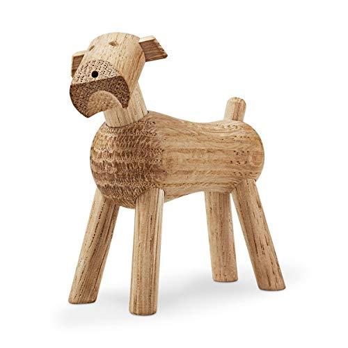Kay Bojesen Hund Tim aus Holz, kleine Holzfiguren Deko, Elefanten Tier Deko Figur, Holzfiguren Deko, Eiche