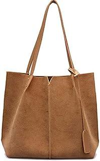 Women Suede Handbags Soft Leather Women Bag Handbags Set Female Shoulder Bags Large Casual Tote Bags