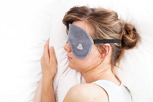 Kuschelige High-End-Schlafmaske aus 100{80206576668af62f93a3082d5891b33c8ac74d9026b63f39b3e44045dbb2d78f} Bio-Baumwolle - Größe M/L - Anthrazitgrau - Lichtdicht und augenfreundlich durch Schmetterlingsdesign - Bei 30 Grad waschbar - Von Top-Schlafexpertin entwickelt - Fair produziert in Deutschland