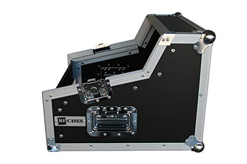 Winkelrack 3/7/4 HE Flightcase Mixercase 4 HE DJ-Rack Case Winkelcase CD Player