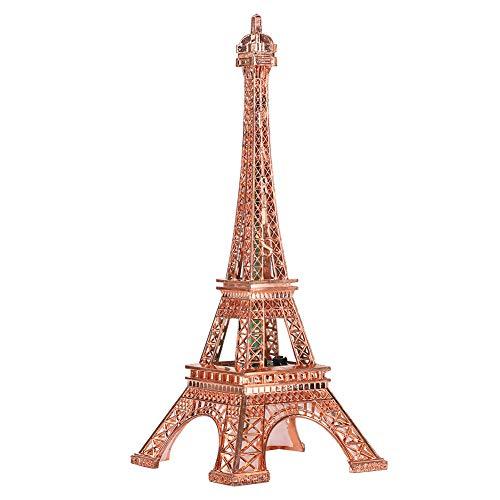 Fdit Iluminación LED Torre Eiffel Luz Nocturna Lámpara de Mesa LED Arquitectura de Metal Modelo Artesanía Escritorio Decoración del hogar Arte Regalo