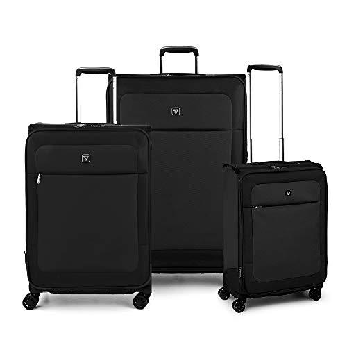 RONCATO Miami Set 3 maletas blandas extensibles (longitud + medio + cabina) 4 ruedas tsa Negro