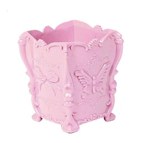 Sukisuki Papillon Motif Make Up support pour brosse Cosmétique Boîte de rangement Coque Stylo Organiseur Conteneur Home Decor, Plastique, rose, Taille unique