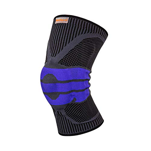 MEDIKAMA Sports - Rodillera estabilizadora para hombre y mujer, estabilizadora de agarre lateral con anillo de silicona anticolisión, estabiliza el dolor de rodilla
