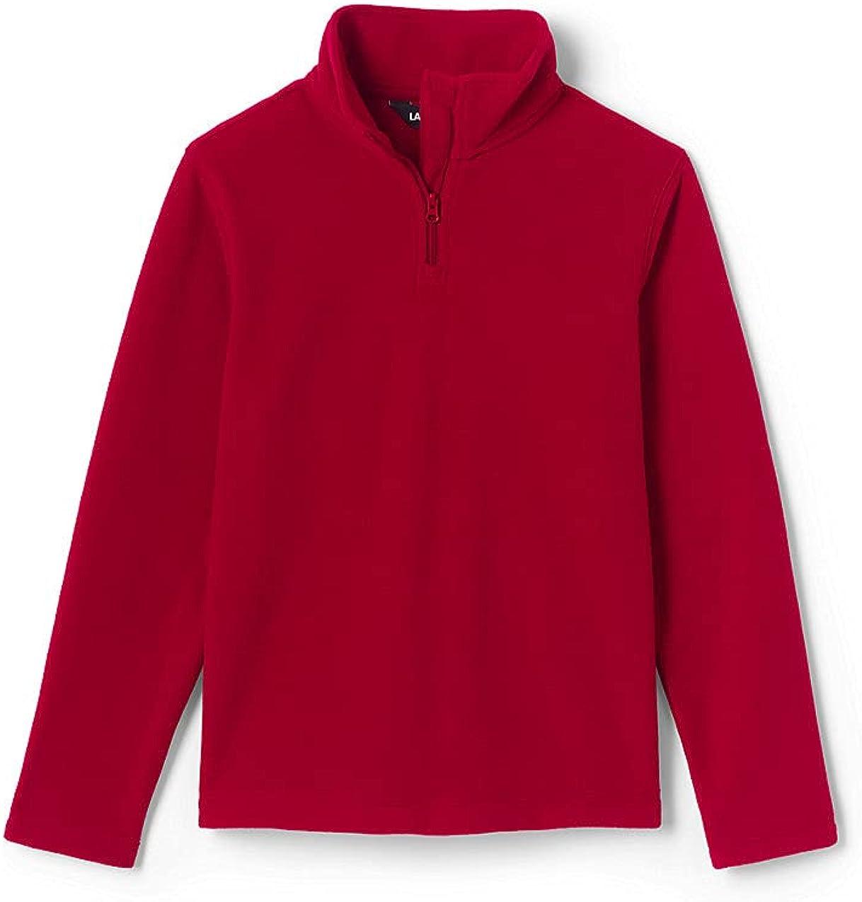 Lands' End School Uniform Kids Lightweight Fleece Quarter Zip Pullover