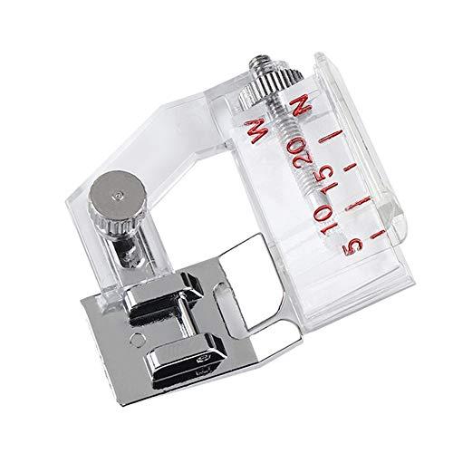 SSSSY Prensatelas Dobladillo 1pc Ajustable máquina de Coser prensatelas Encuadernación pie de fijación del prensatelas for Coser multifunción del hogar Accesorios de Piezas