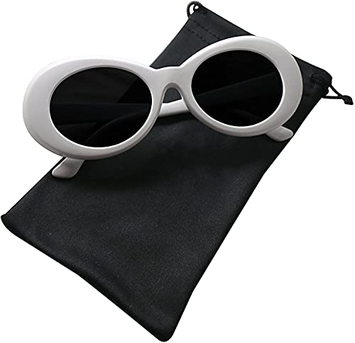 """►Clout Goggles made of Resin frame and Resin lens, non-polarized, Lens width: 2 inches, Lens height: 1.69 inches, Bridge: 1.02 inches. """"Clout Goggles"""", """"Dude Swag"""", """"Kurt Cobain Glasses""""-- Very popular style sunglasses! ► BEST FASHION & BEST GIFT- 60..."""