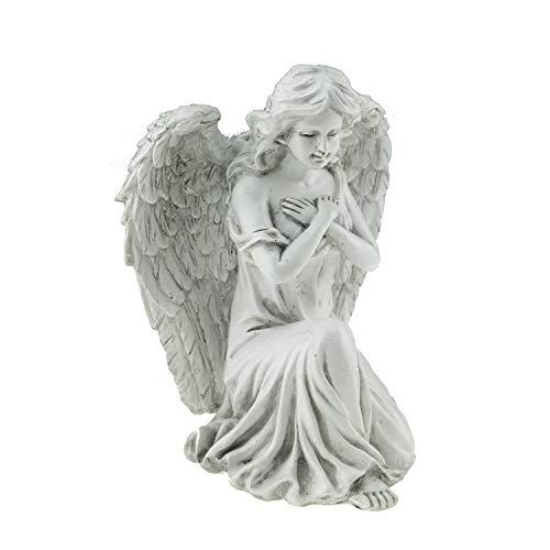 Gartenfigur Engel aus Kunstharz   Außen- und Innenfigur, Geschenk, Dekoration für Zuhause, Terrasse, Hof und Garten