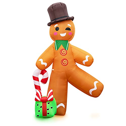 joybest Christmas Inflatables Decorations 7FT Outdoor Christmas Gingerbread Man Blow Up Christmas...