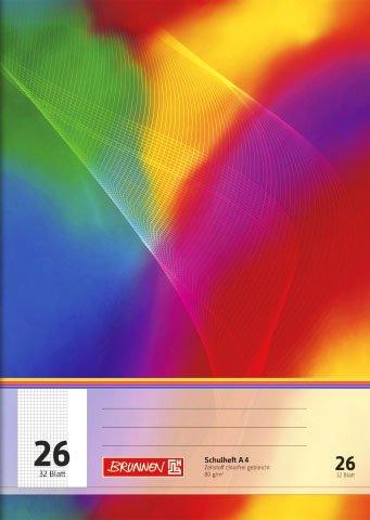 papieto Schulheft/Schreibheft/Rechenheft (Din A4 / 32 Blatt) LINEATUREN FREI WÄHLBAR (Lineatur 26)