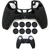 PS5 Controller DualSense Skin Grip Anti-Slip Silicone Cover Protector Case for Sony Playstation 5 Controller with 8 Thumb Grips.