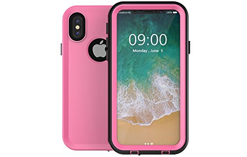 Redpepper-Waterproof Case Cover for iPhone X (2017) Snowproof Shockproof DirtProof Protection Cover Case (Pink)