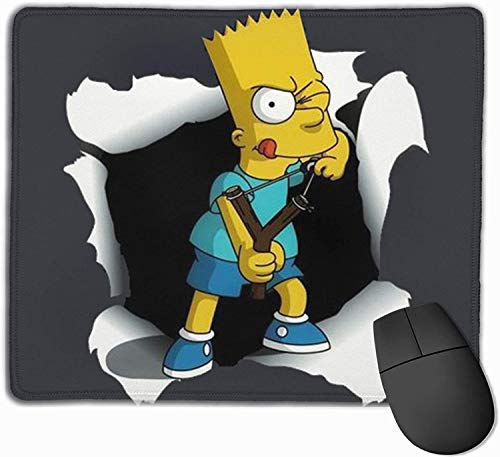 Bart Simpson Mouse Pad Non-Slip Rubber Base Gaming Mousepads for Computers Laptop Office Game Compac (7x8.6)