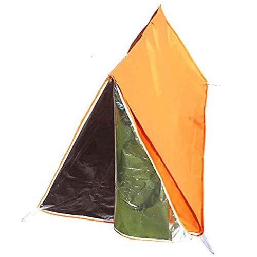 Notfall-Zelt Für Outdoor-Camping Bietet Notfall-Überleben Nicht-Gewebte Zelte Orange Größe 100 × 100 × 200 cm,Orange