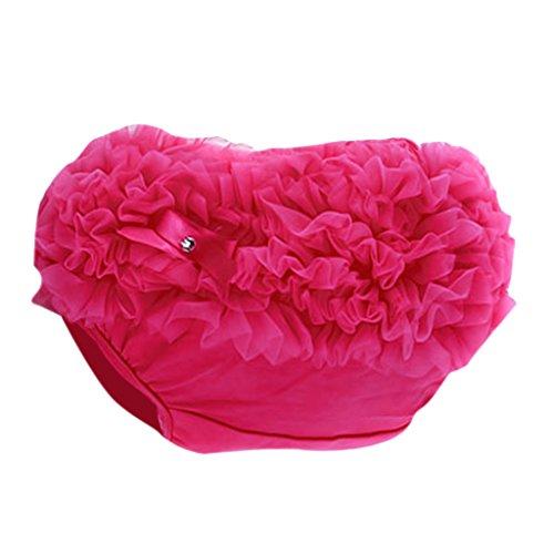 Fenteer Bébé Bloomers Fille Enfant Couvre-couche 0-2 Ans - Rose rouge, XL pour 12-24 mois