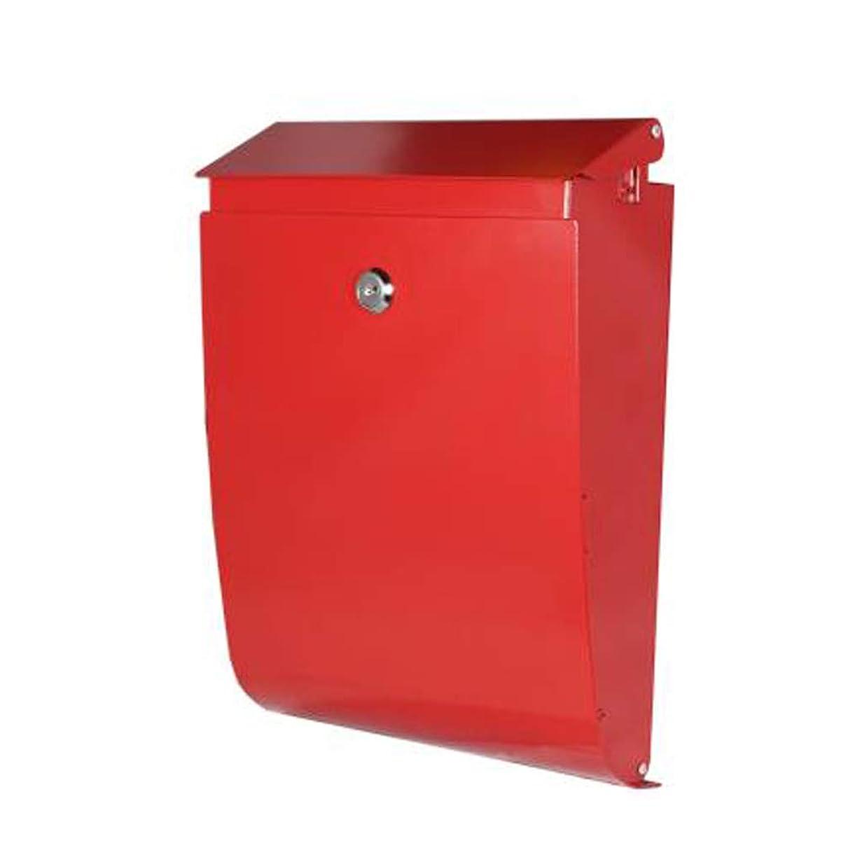 邪魔するバラエティ混沌HTDZDX 壁掛け郵便箱、レターボックス、屋外壁掛け防水装飾レターボックス、赤