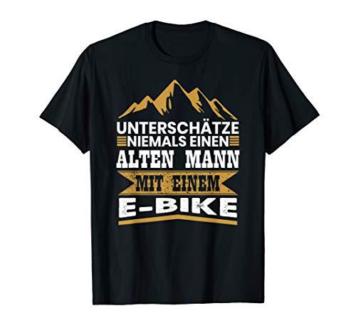 Herren Herren T-Shirt E-Bike Fahrrad E Bike Elektrofahrrad Spruch T-Shirt