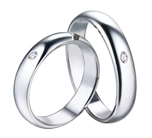 DRG Gioielli FEDI Fedine Fidanzamento Argento 925 Incisioni Nome Data per Lui e Lei Uomo Donna Idea Regalo Anniversario Confezione (con Incisione)