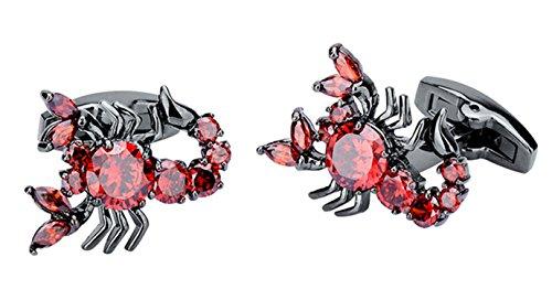 Epinki Herren Rot Skorpion Rot Cubic Zirkonia Manschettenknöpf Für Smoking-Shirt Geschenk Für Hochzeit Jahrestag