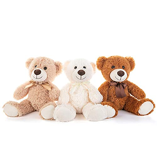 MorisMos 3 Packs Teddy Bear Stuffed Animals Plush - 13.5 Inches Height Cute Plush Toys in 3 Color...