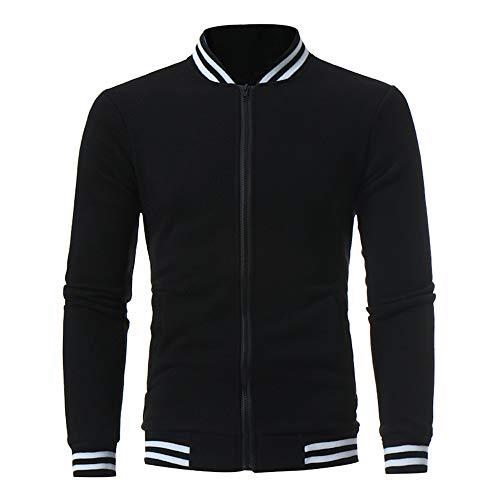 Hommes Vest, Manadlian Sweat-Shirts pour Hommes Manches Longues Sweaters Sweatshirt Baseball Jacket Coat Court Outerwear