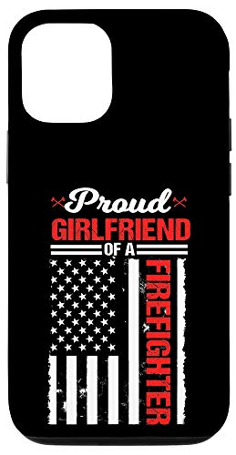 iPhone 12/12 Pro Proud Girlfriend Of A Firefighter Thin Red Line Fireman Gift Case