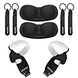 NexiGo Cover Set for Oculus Quest, 2 Touch Controller Grip Cover & Knuckle Strap & Lens Protect Cover Set for Oculus Quest 2 VR Accessories Anti-Throw Sweatproof Handle Protective Sleeve, Black