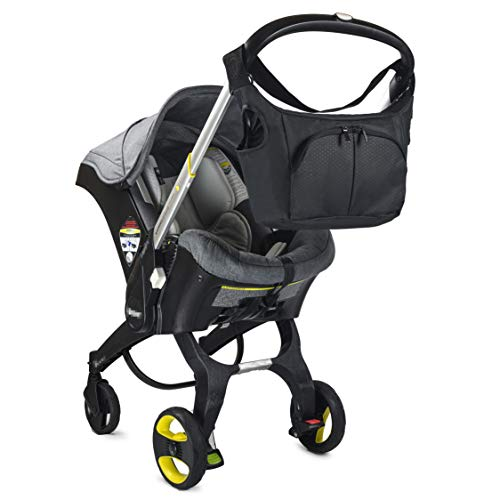 Baby & Beyond s Essential Bag, Compatible with Doona Car Seat Stroller, with additional hooks and straps to be compatible with any universal stroller, Converts into Tote Diaper Bag