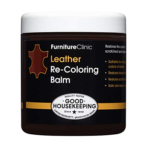 Furniture Clinic Leather Recoloring Balm (8.5 fl oz) - Leather Color Restorer for Furniture, Repair Leather Color on Faded & Scratched Leather Couches - 16 Colors of Leather Repair Cream (Maroon)
