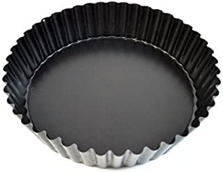Paderno World Cuisine 47719-24 Deep Non-Stick Removable Base tart pan, 9.5in, Black