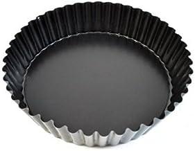 Paderno World Cuisine 47719-24 Deep Non-Stick Removable Base Tart pan, 9.5in, Black
