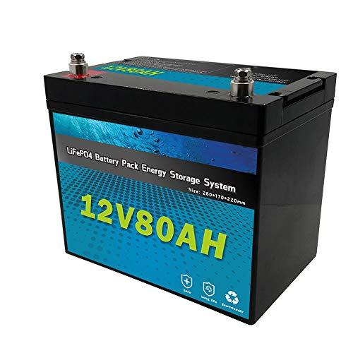 Qingmei Batería Lifepo4 12V 80ah, para Carrito de Golf, reemplazo de baterías de Plomo ácido, batería de Ocio