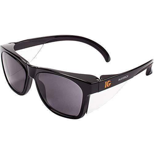 KLEENGUARD KCC49311, Maverick Safety Eyewear, 1 / Each, Smoke Gray Body,Smoke Lens,Black Frame
