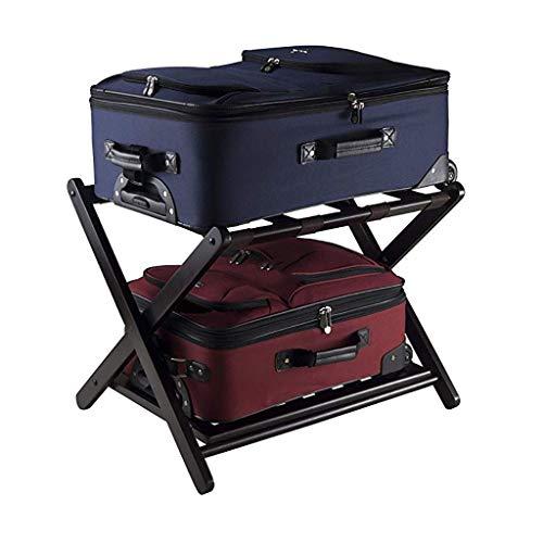HYY-YY Porta carga Porta carga, Habitación de Hotel plegable sólido Holder madera Maleta, Porta equipaje Estanterías Maleta Mochila