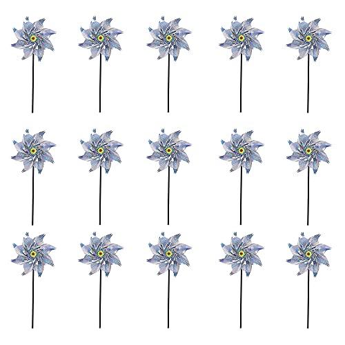 Jooheli Mulino a Vento Riflettente, 10 Pezzi Girandole per Uccelli Repellenti, Dispositivo di Controllo Riflettente Controllo degli Uccelli, Mulino a Vento ad Alta Riflessione to Spaventa Piccioni