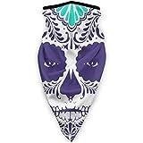 Xukmefat Bufanda de Cuello Ilustración de Calavera de azúcar Mujer Colorida Muerta 9.5'X 20' en Bufanda de Cabeza mágica, Cara, pasamontañas, Banda de Sudor para Pesca, Yoga,