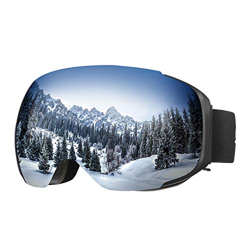 ENKEEO - Gafas de Ski, Snowboard, VLT 8.59% Lente Anti-Niebla de Dual