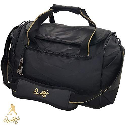 Ronaldinho - Bolsa de entrenamiento (40 L, con correa para el hombro acolchada, compartimento para ropa húmeda)