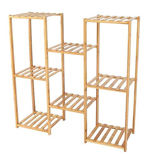 Soporte para plantas, soporte de plantas, estante de plantas en maceta, estante de flores interior, estante de almacenamiento de balcón, 3 + 2 + 3 couches