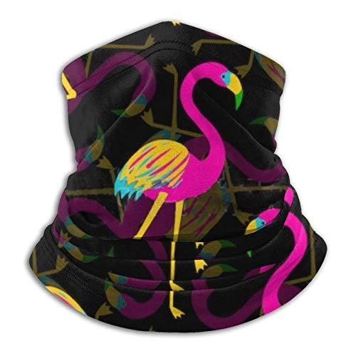 Eliuji Vector Flamingo Fondo Diseño Multifuncional Pasamontañas Clásica Variedad Bufanda para Adultos Senderismo Parque Aquí Y Allí