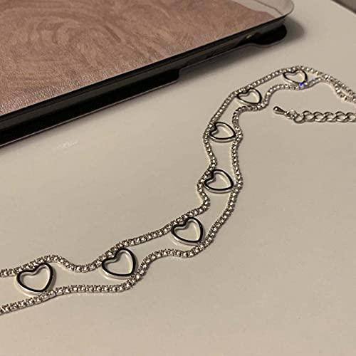 N/A Collar Collar De Amor Hueco Marea Femenina Viento Frío Japón Y Corea del Sur Simple Hada Niña Red Marea Roja Cadena De Cuello Cadena De Clavícula
