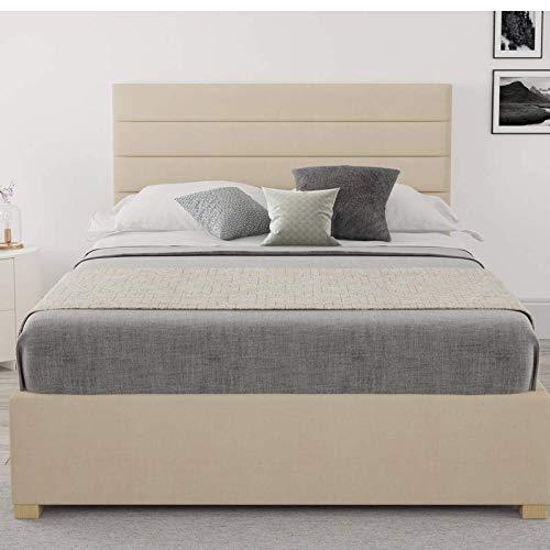 Brayden Studio Classy Malham Mraz Upholstered Ottoman Storage Bed - Kingsize (5') (Cream)