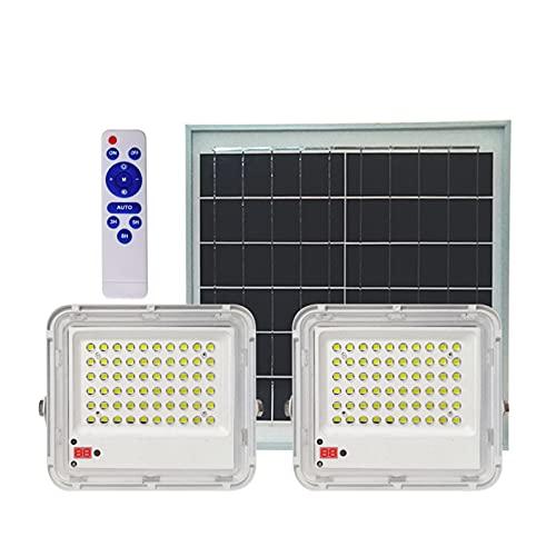 YROD LIGHT Foco Solar Exterior A Prueba De Agua 60W 100W 150W 200W,Alta Capacidad Luces Solares para Jardin Panel Solar De Silicio Policristalino De Clase A Lamparas Solares Exterior...