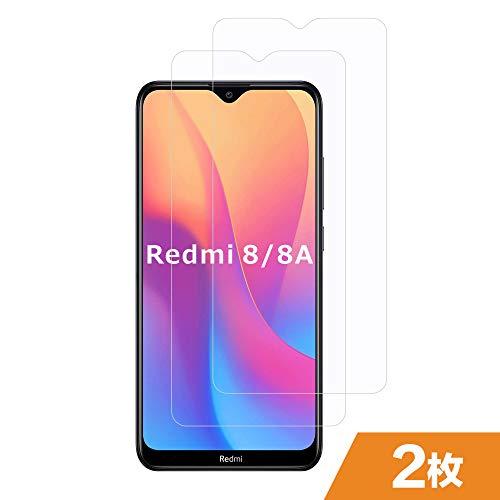 FMPC Xiaomi Redmi 8A/ Redmi 8 用強化ガラスフィルム [2枚入り] [ケースと相性バッチリ] Xiaomi Redmi 8A/ Redmi 8製硬度9H 高品質強化ガラス液晶保護フィルム 高透過率 指紋/気泡防止 耐衝撃